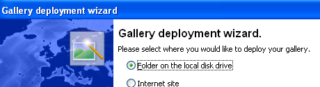 Deploy gallery wizard