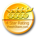 PictureNook has been awarded 4 stars by freshshare.com