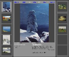 Web gallery sample (Retro gallery layout)